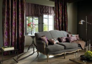 Liftgardin Lux med kjedetrekk. Eksklusiv Jacquard vevd tekstil.