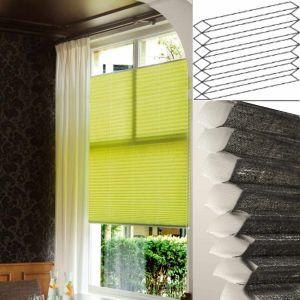 Plissegardin LUX, Up&Down / flyvende. Med dobbel tekstil egnet for glassnær montering. Ca. 50% under standard markedspris