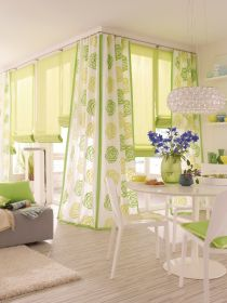 Liftgardin Lux med kjedetrekk. Eksklusiv transparent tekstil.